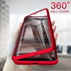 360 Full Cover phone Cases Hard PC protective with tempered glass For iphone 12 11 Pro Max XR X 8 7 6 Plus Samsung Galaxy Note 5 9 10 S6 S7 S8 S9 S10 Lite Edge