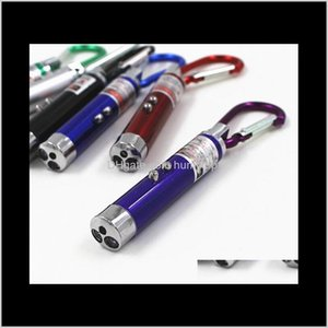 Torcia a catena chiave Esterni 3 IN1 Mini LED UV Purple Light Light Light Keychain Torcia Carabiner Portachiavi Portachiavi Torcia Laser rosso POIN FUQXB