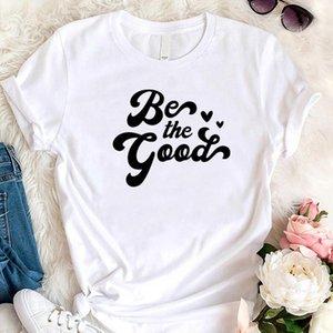 Women's T-Shirt Be The Good Love Heart Women Short Sleeve T Shirts Cotton Religious Christian Graphic Tshirt Jesus Church Streetwear Dropshi