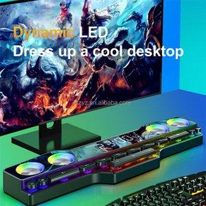 computer Speakers audio desktop notebook long multimedia gaming Bluetooth speaker game subwoofer color LED lights FM