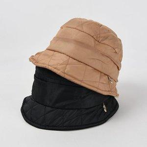 Wide Brim Hats Hat Women Autumn Winter Diamond Fisherman Japanese Plus Velvet Thicken Warm Bucket Designer Panama Wholesale
