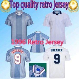 Men1996 Eng Retro Jersey de fútbol Jersey Gascoigne Shearer Mmanaman Land Southgate Classic Vintage Sheringham 96 98 Hogar de la camisa de fútbol de Beckham