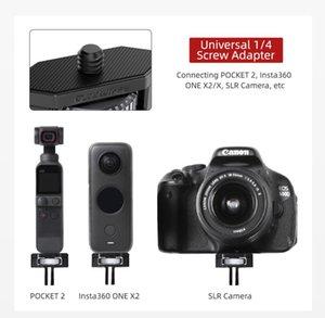 Lens Adapters & Mounts Sunnylife 1 4 Metal Adapter 360 Rotation Aluminium Alloy For Pocket 2 FIMI PALM 2 Insta360 One X2 SLR Camera