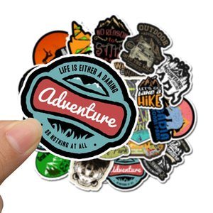 50pcs Outdoor Camping Travel Stickers Wilderness Explore Survival Decal Sticker To Suitcase Laptop Motorcycle Car Bicycle Guitar wmtGIp