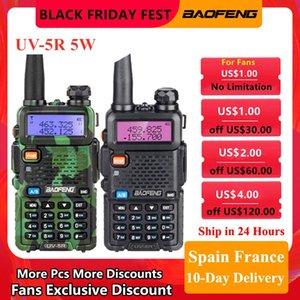 Walkie Talkie Baofeng UV-5R VHF UHF Dual Band Two Way Radio Station Portable T5W Ransceiver For Hunting Ham Radios