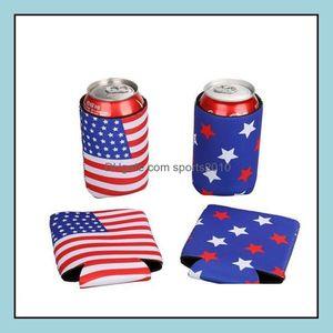 Ice Buckets And Coolers Barware Kitchen, Dining Bar Home & Gardenamerican Flag Beer Bottle Cooler Sleeves Neoprene Protection Insation Sleev