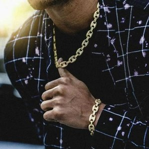 2021 12MM Miami Cuban Link Chain Bracelets Set For Mens Tennis necklace Bling Hip Hop iced out diamond Gold Silver rapper chains Women Luxury Jewelry Pendants) AA2