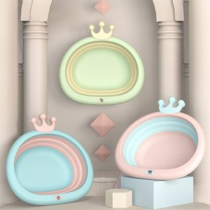 Portable Folding Bucket Basins Bathtub Bathroom Accessories Plastic Eco-friendly Baby Home Tubs Bath 210423