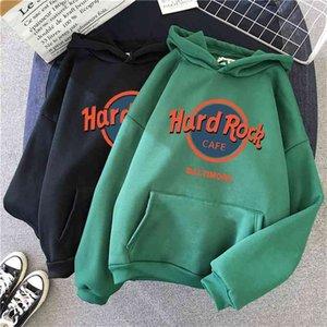 cool oversized women hoodies Letter Printed Sweatshirt Women Winter Warm Streetwear Pullovers Punk Graphic Thicken Hoodies 210910