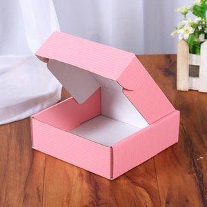 Гофрированные бумажные коробки цветные подарочные упаковки складной коробки квадратный упаковочный ящик ювелирные изделия упаковочные картонные коробки 15 * 15 * 5см OWD5900