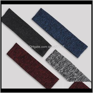Bands Yoga Supplies & Outdoors Drop Delivery 2021 Elastic Sweatband Basketball Sports Headband Women Men Gym Fitness Sweat Hair Band Volleyba