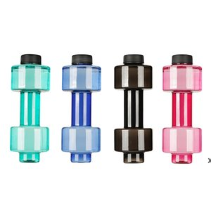 550 ملليلتر الدمبل شكل البلاستيك كبير سعة كبيرة رياضة زجاجة المياه الرياضية في الهواء الطلق اللياقة البدنية دراجة دراجة التخييم الدراجات غلاية DHF6047