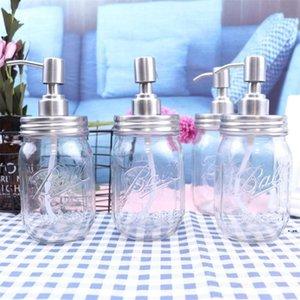 Meme Sıvı Sabunluk Dispenseri DIY Paslanmaz Çelik Mason Kavanoz Pompa Banyo Banyo Mutfak Sanitizer Tanksız HWA4858
