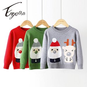 Pullover Engepapa Knitted Children Sweater Long Sleeves Winter Warm Clothes Cute Cartoon Baby Knitwear Boy Girl Costume