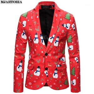 MJARTORIA Christmas Suit Men Slim Fit Printing Fashion Party Boys Coat Prom Suits With Winter Jacket Mens Tops 1