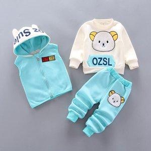 Pezzi Bambini Abbigliamento invernale Vestito Cartoon Bear Baby Boy Vestiti Bambino Bambino per ragazze Bambini Outfit 1-4 anni Set di abbigliamento