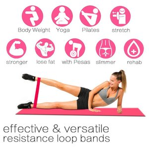 Yoga Exercise Band Natural Latex Workout Resistance Bands Durability Soft Strength Training Home Equipment