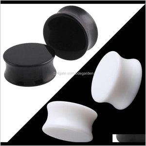 330Mm Black Acrylic Stretchers Expander And Ear Gauges Plugs Body Piercing Tunnels Jewelry Rdgpj Aonms