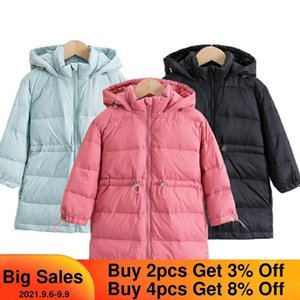Boys Down Jacket Girls Snowsuit 2021 New Hooded Boys Winter Coat Parkas for Girl Thicken Kids Clothes Boy Outerwear 3-8 Year H0909