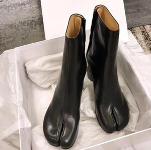 Design Tabi Boot Split toe Chunky High Heel Women Boots Leather Zapatos Mujer Fashion Autumn Womens Shoes Botas Mujer1