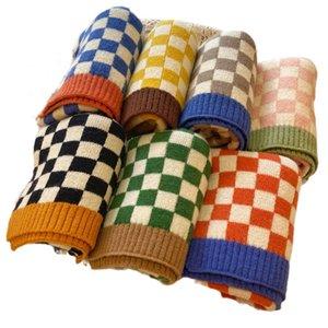 Kids Scarves Children Scarf Baby Ring Boys Girls Accessories Autumn Winter Keep Warm Knitted Wool Soft Plaid Fashion B8966