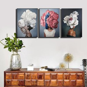 40x60cm pintura abstracta flores modernas mujeres bricolaje el número de pintura al óleo en lienzo decoración para el hogar figura imágenes regalo fwd6234