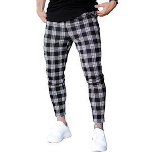 Mens Joggers Casual Plaid Pants Running Training Sport Scotland Streetwear Gyms Tracksuit Fitness Sweatpants Ropa De Hombre