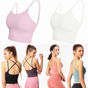 Fitness atlético sólido lulu yoga pantalones femmes llenas lu camis tanks entrenamiento top gimnasio alinear entrenamiento tops belleza plástico deportes ropa interior mujeres reunirse corriendo