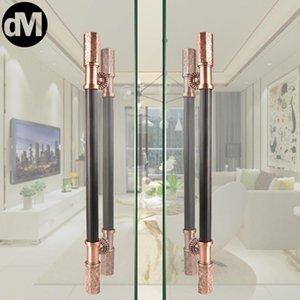 Handles & Pulls DM 2pcs Set Chinese Modern Glass Door Handle Paired Luxury Doors Sliding Wooden Double European El Movie KTV