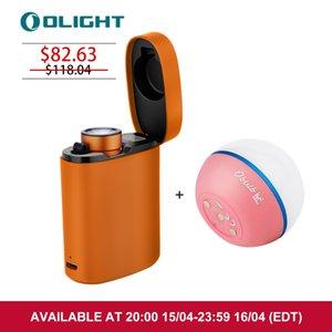 Olight Baton3 Premium Edition Orange Flashlight bundle with Obulb Pink Multifunctional LED Floating Lampe