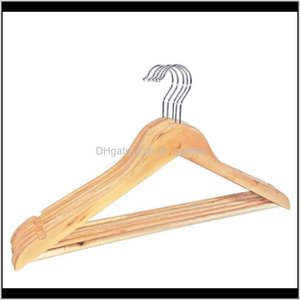 Clothing Racks Housekeeping Organization Home Garden Drop Delivery 2021 Natural Wooden Clothes Hanger Coat For Dry And Wet Dual Cloth Purpose
