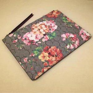 Women Handbag Clutch Bags Lady Purse Patchwork Color Letter Printing Genuine Leather Floral Pattern Interior Zipper Unisex Wallets