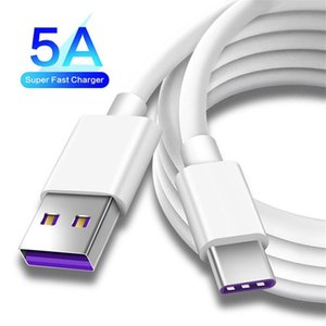 5A Fast Quick Charger cables 1M 3FT Type C USB Data Sync Cable for Samsung S8 S20 Note 10 LG Huawei Mate 30 Pro Android phone pc mp3