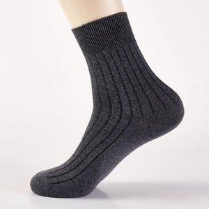 Men's Socks Men Cotton Crew Solid Color Sports Run Long Tube Soft Leisure Absorbs Sweat Male Business Elastic White Black