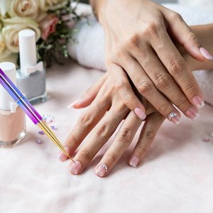 Nail Art Equipment S!!! 5Pcs Set Liner Painting Pen Portable Manicure Accessories Long Handle Drawing For Women