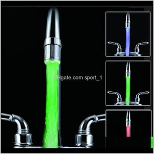 Lights Faucets Showers Accs Home Garden Drop Delivery 2021 Luminous Lightup Led Faucet Shower Tap Basin Water Nozzle Bathroom Kitchen Heater