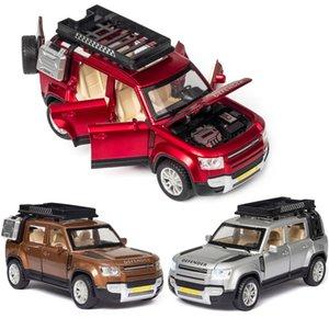 132 Alaşım Araba Arazi-Rover Defender Model Ranımı Rover Spor Araba Modeli Ses ve Işık Geri Çocuk Oyuncaklar Favori