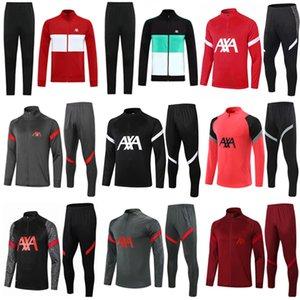 20 21 22 Kids Homme Soccer Tracksuit Survèlement de Football Former costume Sportswear 2021 2022 Long Full Full Training Veste Jacksuits Ensemble