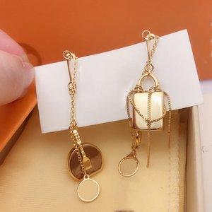 2021 Designer Earrings 316L stainless steel luxury women Dangle rose gold Bags Channel Fashion Earring Jewelry Gifts