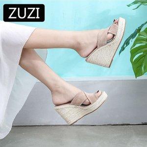 Espadriilles клин сандалии женские летние ботинки натуральные джутовые тканые платформы на высоком каблуке сексуальные тапочки вскользь