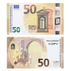 Ruvince ماركة الجملة ملهى ليلي بار جودة عالية نتظاهر اليورو 5 20 50، الدعائم نسخة الملاحظات وهمية لعب المال فو بلات 100 قطع حزمة