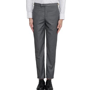 Thom Tb Fashion Brand Pants Men Slim Casual Suit Business Black Gray Spring and Autumn Cotton Wool Formal Trousers