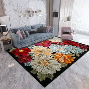 1pcs 3D Flower Carpets Hallway Doormat Bedroom Living Room Ocean Rugs Kitchen Stairs Carpet Anti-skid Hotel Corridor Mats