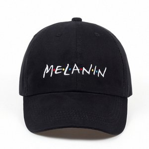 2018 New Unisex Fashion Dad Hat Melanin Embroidery Adjustable Cotton Baseball Cap Women Sun Hats Men Casual Caps Wholesale r8Qg#