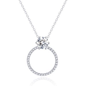 Fashion Necklaces Tianyu Gems Classic Moissanite Necklace 10k Real Gold Chain Jewelry 6mm Round Brilliant Def White Gemstone Women Wedding Gifts