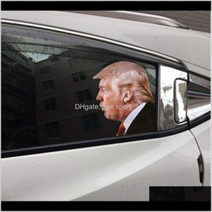 Banner Flags Election Trump Decals Stickers Biden Funny Left Right Peel Off Waterproof Pvc Car Window Decal Party Supplies Owd2093 5Nv Ybtfl