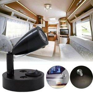Parts Caravan Accessories Rv Wall Lamp Dc12v 3w 6000k Cold Led Drop White Light Spot Reading Interior L0d5