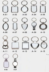 Sublimation Key Rings Blank White Metal Single Side For Sublimating Heat Transfer Keychain Christmas Valentine Pendants Gifts HWF9165