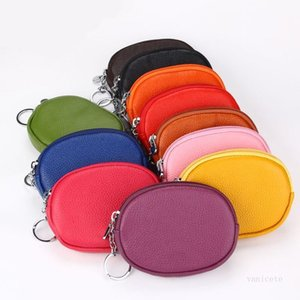 Leather Mini coin wallet key cases Small Change Money Bags Pocket Wallets Keys Holder Case Card Pouch Zipper Storage Bag T9I001267