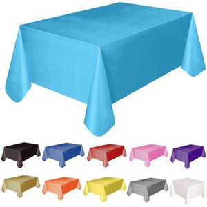 Disposable Table Covers Cloth Anti-oil Solid Event Party Tableware Paper Napkins Plates Plastic Picnic Dinnerware Birthday Supply Tool